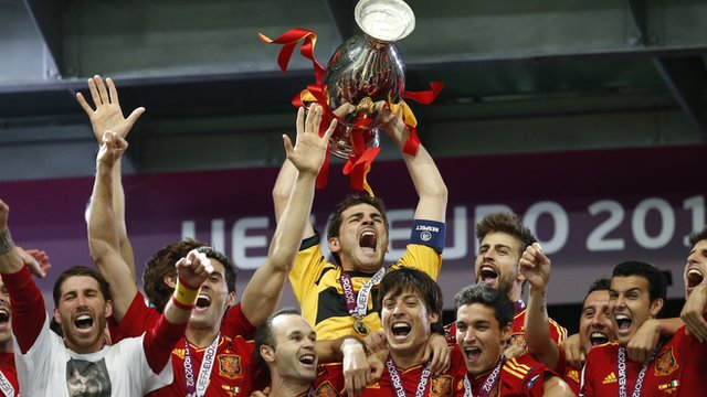 Spain beat Italy in last years Euro 2012 final image: bbc.co.uk
