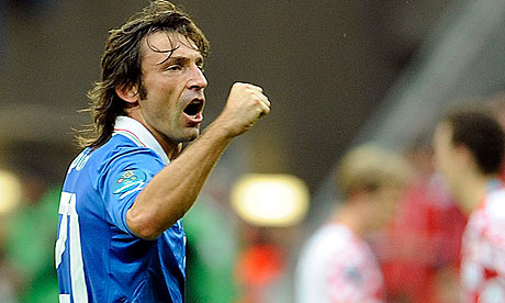 Pirlo will be crucial to any Italian challenge tonight image: guardian.co.uk