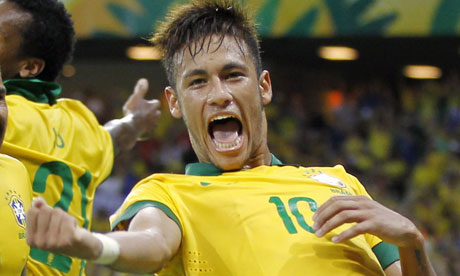 Neymar has been named Man of the Match in all three group games for Brazil image: gaudian.co.uk