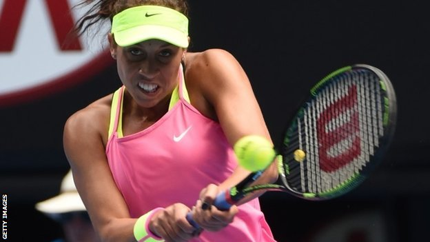 Madison Keys will hope for a Williams' double when she faces Serena on Thursday image: bbc.co.uk