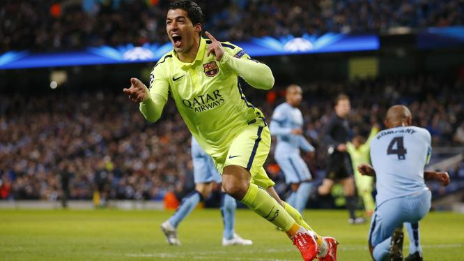 Luis Suarez bagged a brace as Barcelona take a 2-1 lead into the second leg image: eurosport.com
