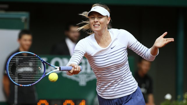 Maria Sharapova saw off Spain's Kaia Kanepi in her first round match image: rte.ie
