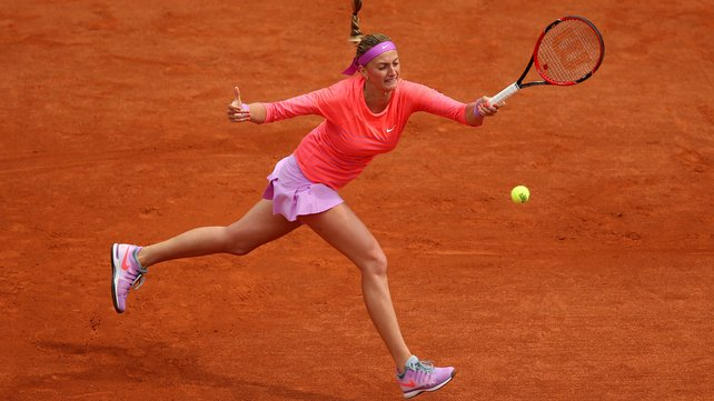 Petra Kvitova needed a decider to book her spot in the second round image: rte.ie