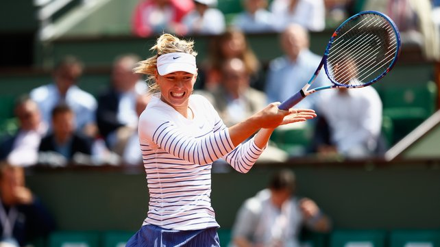 Maria Sharapova has won two of the last three French Opens image: rte.ie