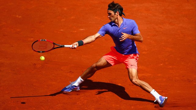 Roger Federer lost serve in both the second and third sets but broke straight back image: rte.ie