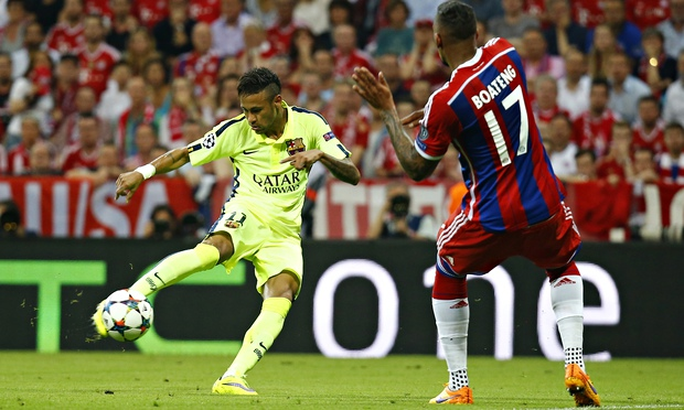 Neymar scored twice as Barcelona booked final berth despite loss image: theguadrian.com
