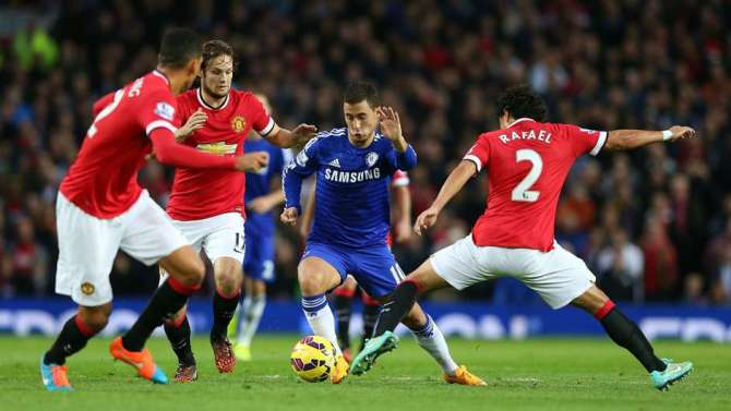 Eden Hazard's most important goal came in the 1-0 win over Man Utd image: goal.com