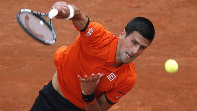 Novak Djokovic overcame a slight scare to reach the next round image: newsday.com