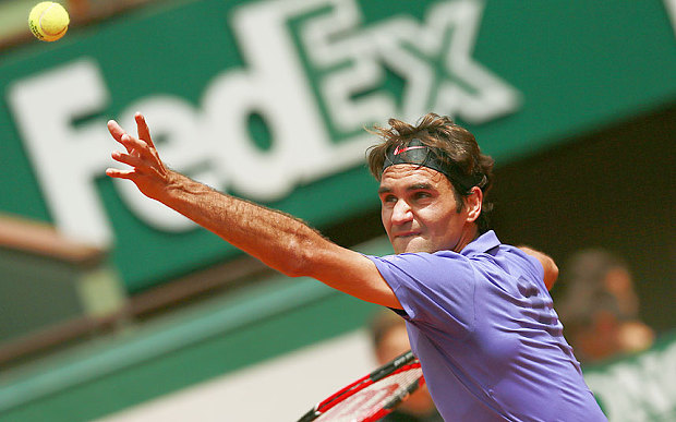 Roger Federer eased through to the second round at Roland Garros image: telegraph.co.uk