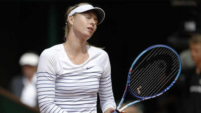 Maria Sharapova's hopes of a third French Open title were ended by Lucie Safarova image: rte.ie