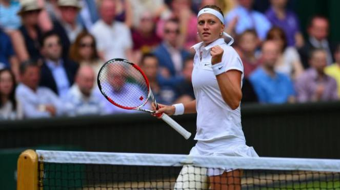 Petra Kvitova needed just 35 minutes to book her spot in the second round image: eurosport.yahoo.com