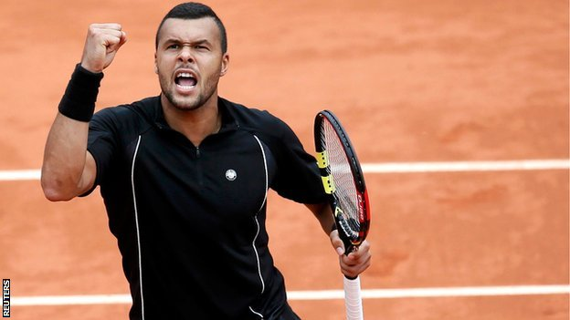 Jo Wilfired Tsonga's best result at Roland Garros was the semis in 2013 image: bbc.co.uk