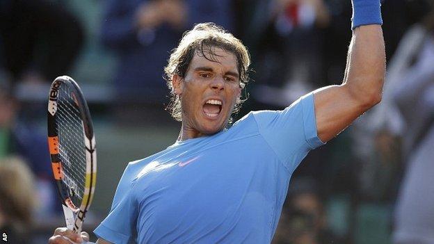 Rafael Nadal saw off Jack Sock to book a quarter-final date with Novak Djokovic image: bbc.co.uk