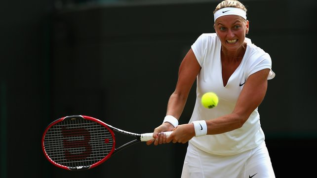 Petra Kvitova hit 10 aces and 23 winners in her win over  image: rte.ie