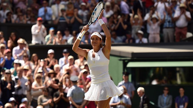 Garbine Muguruza is through to her first ever grandlsam final image: rte.ie