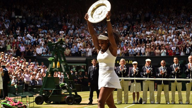 Serena Williams now holds all four majors image: rte.ie