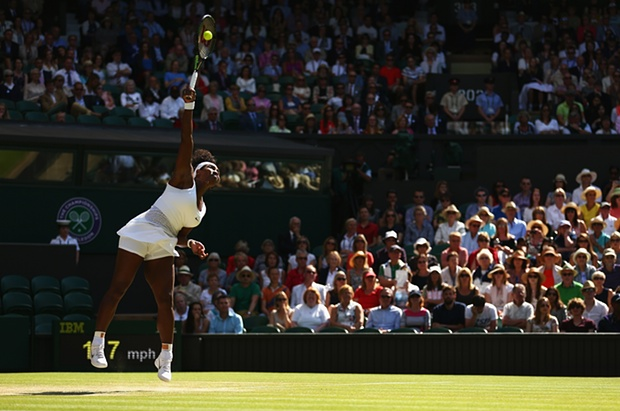 Serena Williams recorded a 17th straight win over Maria Sharapova image: theguardian.com