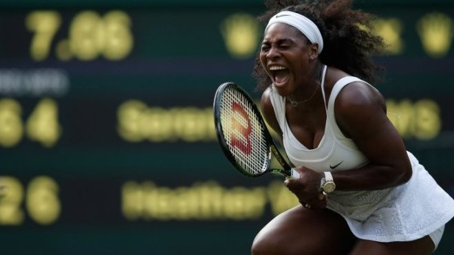 Serena Williams survived to book a fourth round match against sister Venus image: bbc.co.uk