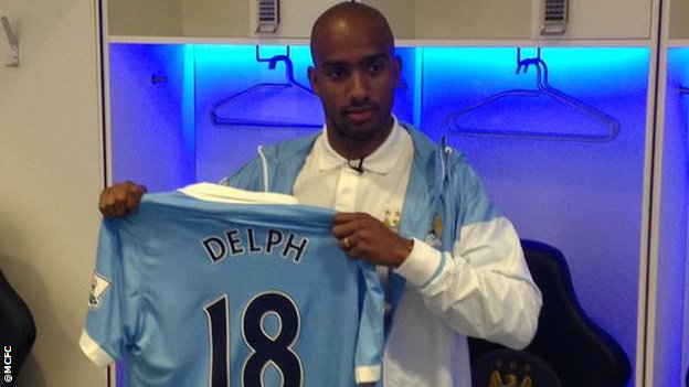 Fabian Delp joins fellow England midfielder Raheem Sterling at Man City image: bbc.co.uk