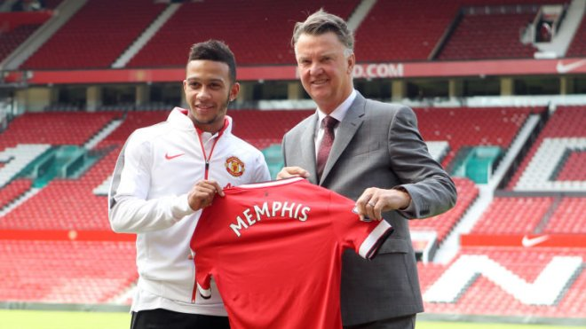 Man United splashed out £31m on Memphis Depay image: skysports.com