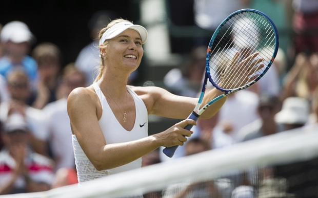 Maria Sharapova reached the last eight at Wimbledon for the first time since 2011 image: telegraph.co.uk