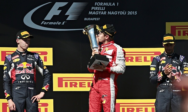 Sebastien Vettel won his second race of the season image: theguardian.com