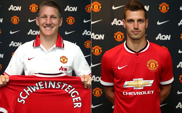 Man United splashed out £40m on midfield pair Bastain Schweinsteiger and Morgan Schneiderlin image: telegraph.co.uk