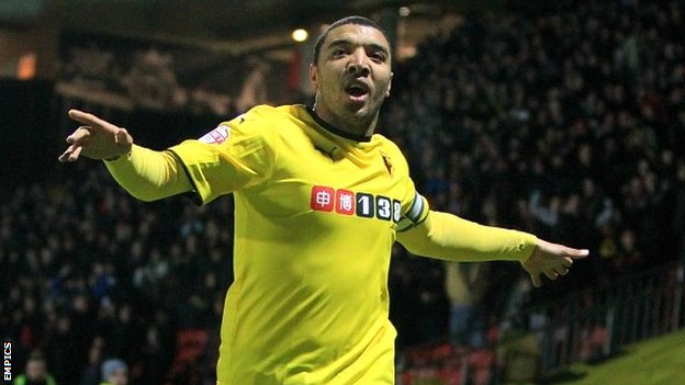 Troy Deeney netted 21 times for the Hornets last season image: bbc.com