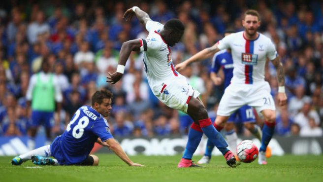 Bakary Sako opened the scoring in Crystal Palace's 2-1 win over Chelsea image: skysports.com