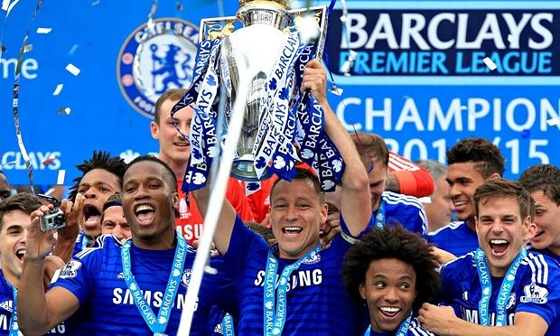 Can Chelsea retain thier Premier League trophy come May? image: theguadrian.com