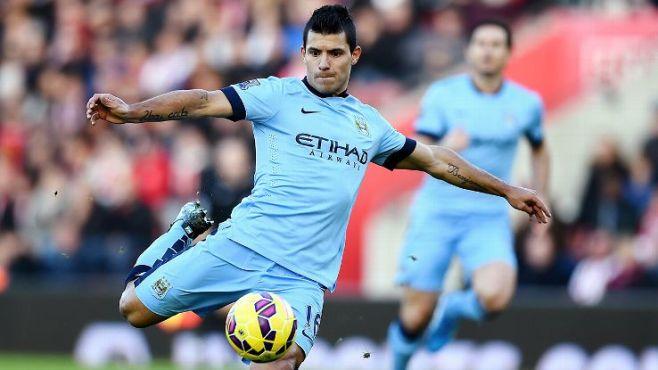 Sergio Aguero has scored 78 goals in four seasons at Man City image: espnfc.com