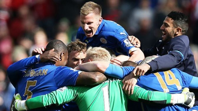 Leicester won seven of their final nine games to clinch survival image: espnfc.com