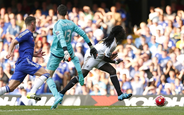 Thibaut Courtois will now miss Chelsea's trip to Man City on Sunday image: telegraph.co.uk