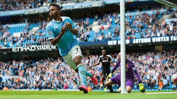 Raheem Sterling scored his first Man City goal in the 2-0 win over Watford image: cbc.ca