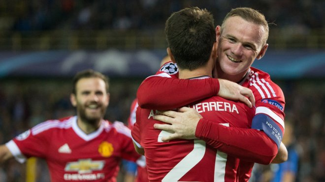 Wayne Rooney was back to scoring ways with three goals against Club Brugge image: skysports.com