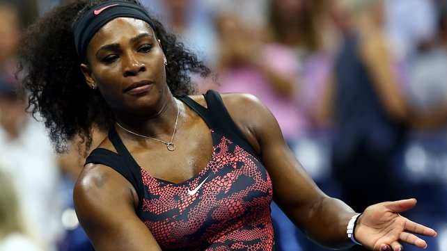 Serena Williams won eight consecutive games in just 30 minutes image: rte.ie