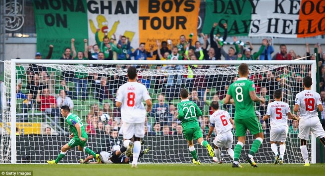 Ireland thrashed Gibraltar 7-0 in Dublin last October image: dailymail.co.uk