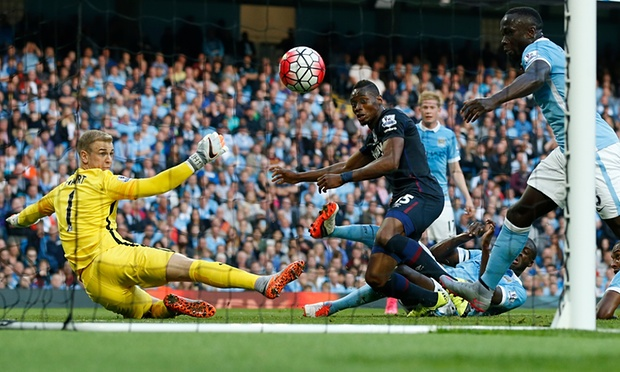 Diafra Sakho was on the score sheet as West Ham shocked Man City image: theguardian.com
