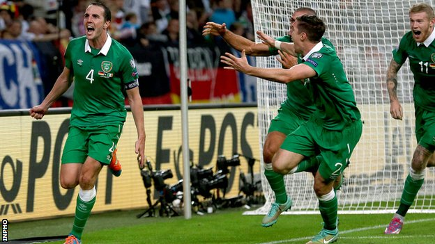 Ireland earned a 1-1 draw in Germany last October image: bbc.com