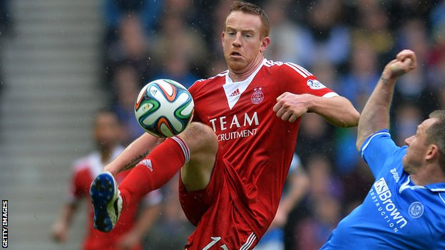 Adam Rooney has scored four goals for Aberdeen this season image: bbc.co.uk