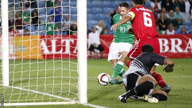 Robbie Keane scored a brace in the 4-0 win over Gibraltar image: bbc.co.uk
