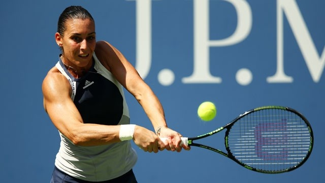 Flavia Pennetta joins fellow Italian Roberta Vinci in the semi-finals image: kxly.com