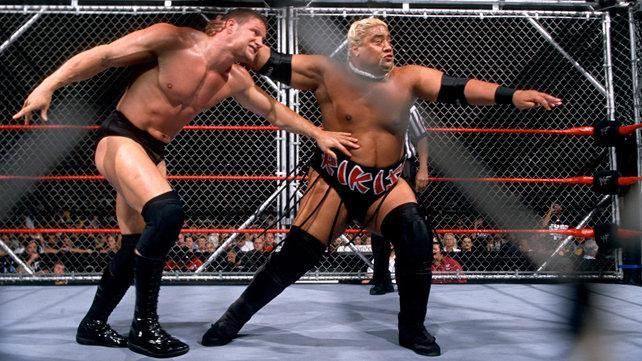 Rikishi fought Val Venis in a Cage match image: wrestlingforum.com