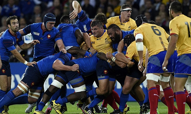 France made it twos wins from two with a win over Romania image: theguardian.com