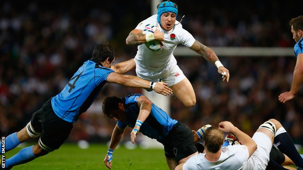 Jack Nowell scored a hat-trick of tries as England wrapped up a disappointing campaign with a win image: bbc.co.uk