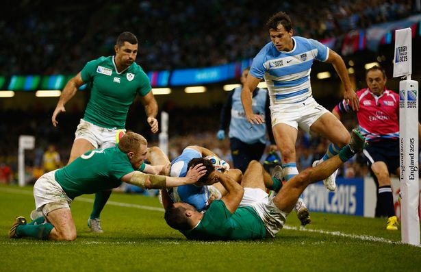 Tow tries in the opening 12 minutes were crucial in Argentina's win over Ireland image: mirror.co.uk