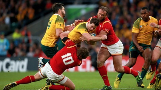 Australia secured top spot in pool A as Wales will now face South Africa image: itv.com