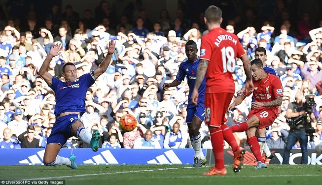 Philippe Coutinho scored twice as Liverpool won 3-1 at Chelsea image: sporthou.se