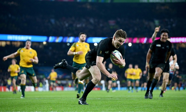 Beauden Barrett scores New Zealand's third try late on image: theguardian.com
