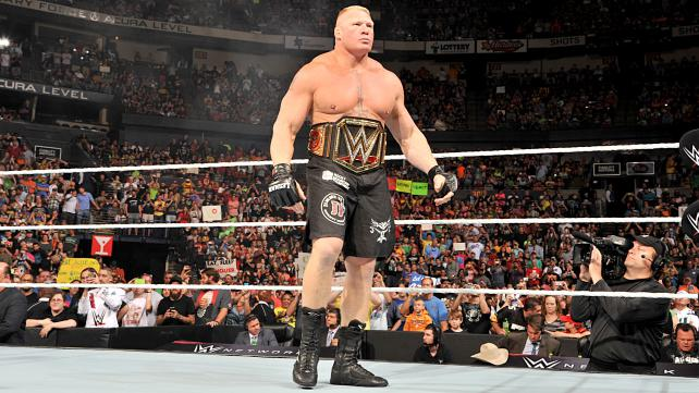 Brock Lesnar was never pinned to lost the title back at WrestleMania image: dailyddt.com